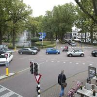 De Brink in Laren op een nog vrij rustig moment.