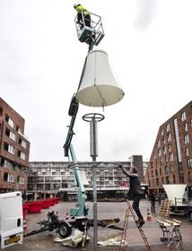 Duurzame lampenkappen sieren Haarlems winkelcentrum