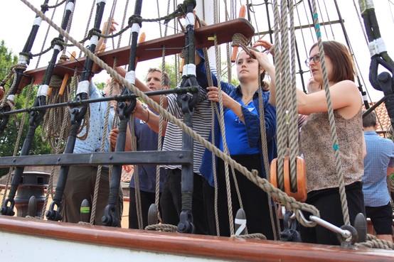 Clean2Antarctica weg via Enkhuizer Zeevaartschool