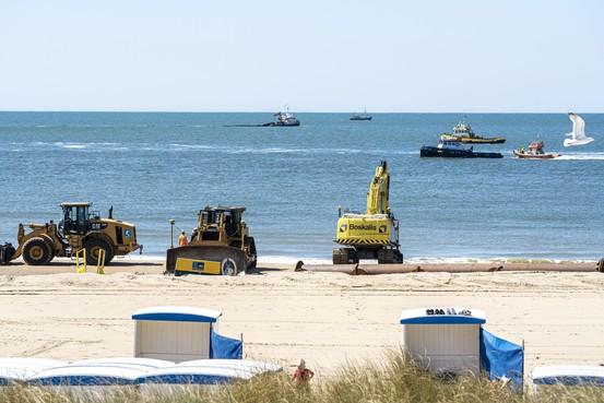 Alles klaar voor zandopspuitingen Katwijkse strand: werkzaamheden beginnen week eerder
