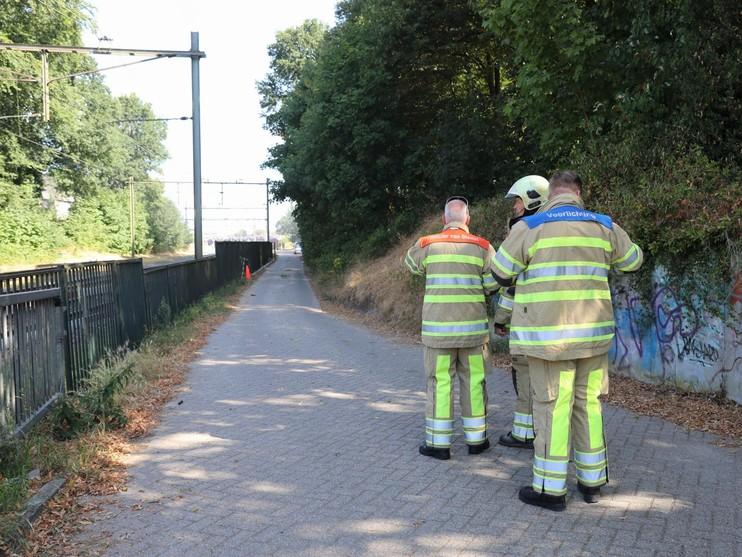 Brand in stroomhuis NS in Hilversum, treinverkeer urenlang gestremd