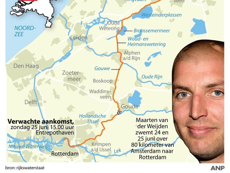 Zwemmer Van der Weijden gaat nog steeds goed[video]