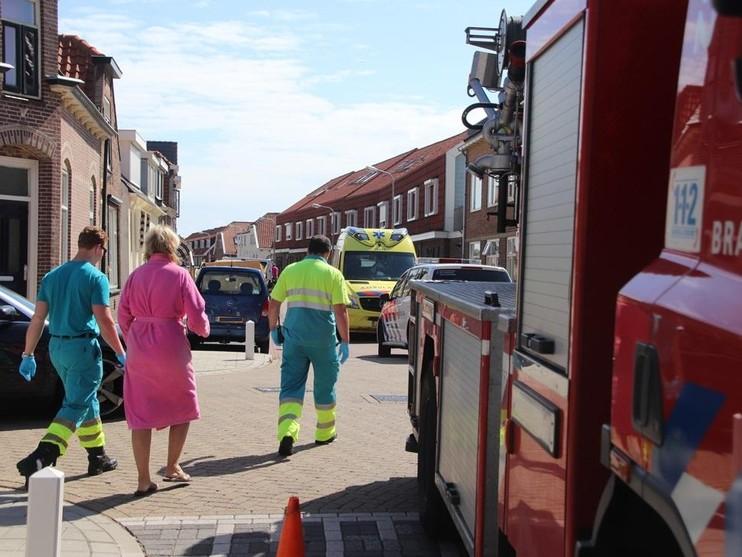 Twee bewoners naar ziekenhuis na keukenbrand in Katwijk