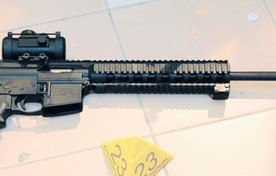 Het automatisch geweer dat Tristan   kocht op de dag dat hij een wapenvergunning kreeg.