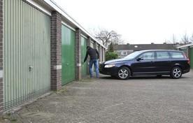 Bestaande garageboxen aan de Professor ten Doesschatestraat.