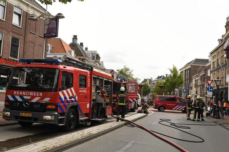 Brand in restaurant Kippevel in Leiden, Kort Rapenburg afgesloten
