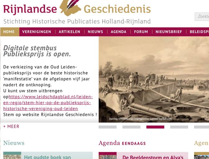 Stem hier op de Publieksprijs Historische Vereniging Oud Leiden