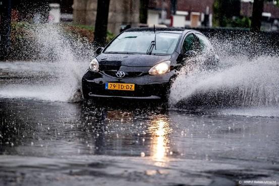 In Hilversum net zoveel regen als in een maand