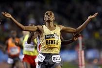 Kenenisa Bekele faalt in Dubai bij zijn poging het wereldrecord op de marathon aan te scherpen. © Reuters.