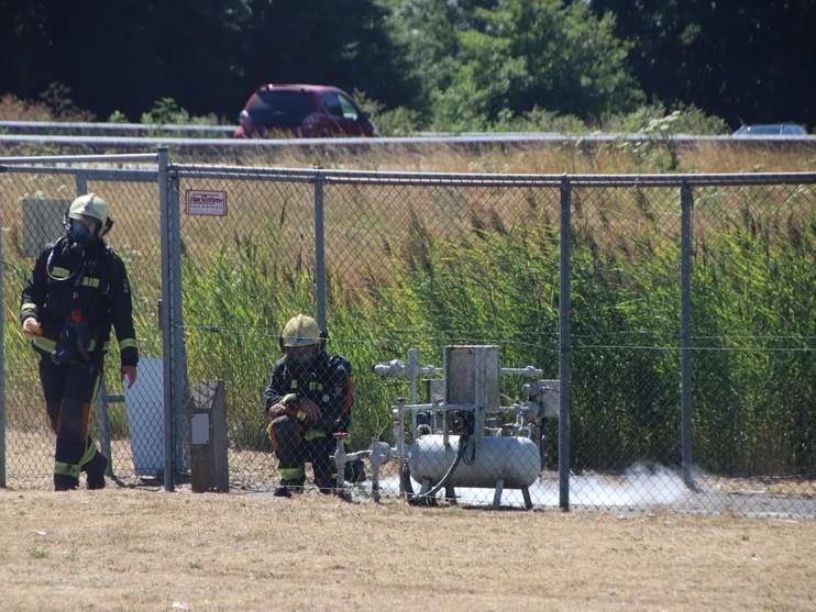 Tankstation ontruimd wegens gaslek aan A44 bij Sassenheim [update]