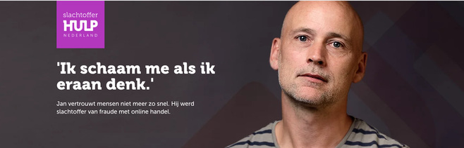 Campagne Slachtofferhulp: 'Online oplichting niet jouw schuld, wel jouw probleem'