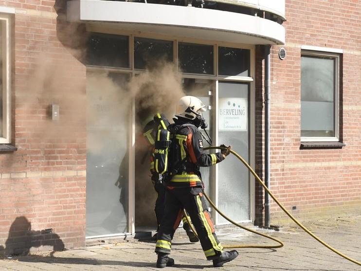 Brand in kantoorpand aan de Haagweg in Leiden