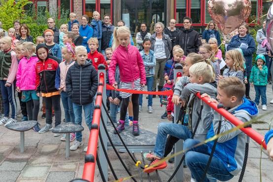 De Baskuul in Lutjebroek heeft plots drie schoolpleinen