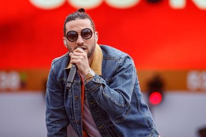 Rapper Kraantje Pappie op podium Polder Events
