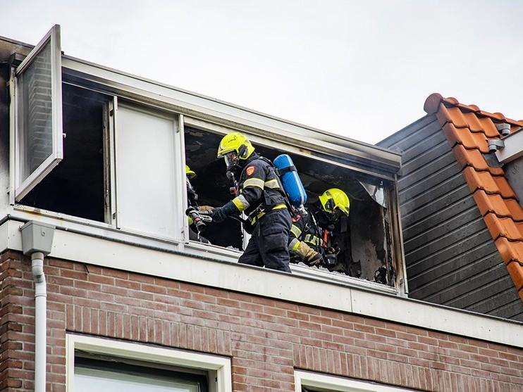 Veel schade door brand in woning Bloemendaal