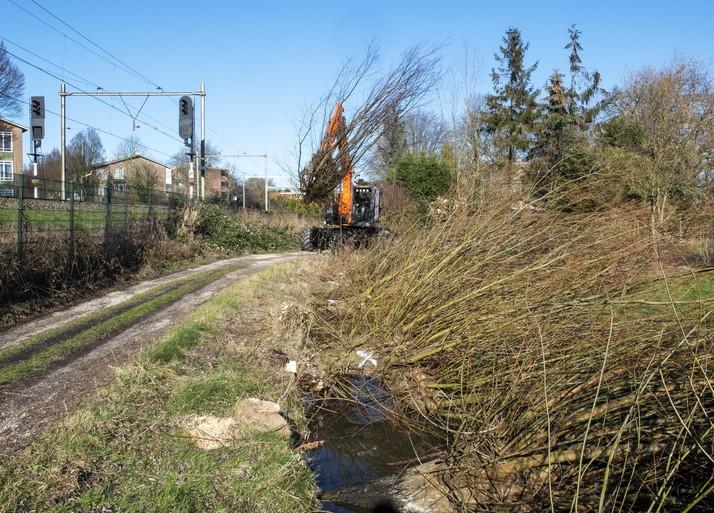 Prorail begint snel met aanleg weg langs spoor in Santpoort-Zuid [video]