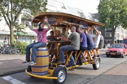 Bierfiets in groter deel Amsterdam verboden