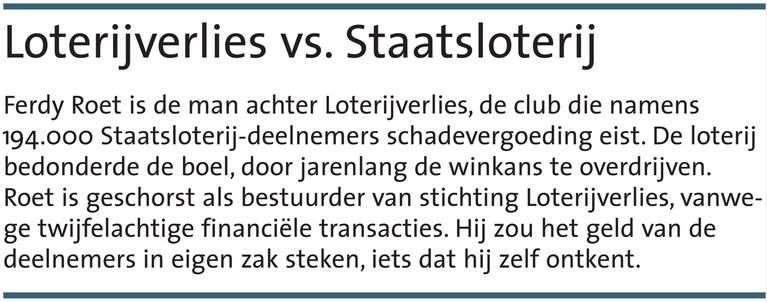 'Loterijverlies overschrijdt grens'
