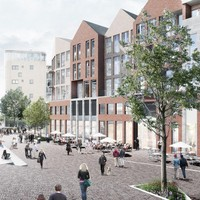De beoogde nieuwe look van het Hilversumse stationsgebied.