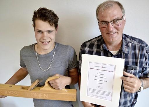 Hoornaar Casper Manshanden is beste praktijkopleider van Noord-Holland voor bouw