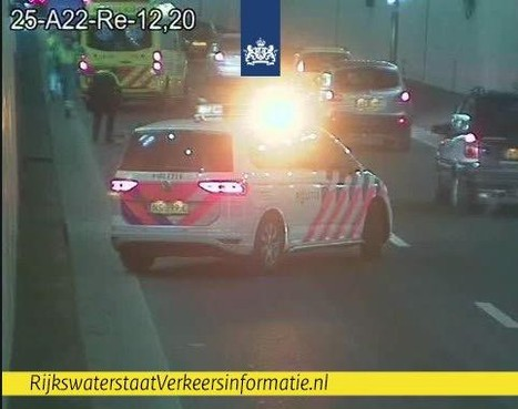 Veel oponthoud na ongeval in Velsertunnel