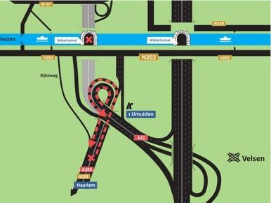 Situatie snelwegen weer terug naar vóór afsluiting Velsertunnel