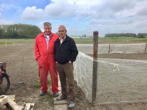 Onderweg: 'Vroeger moest je van jongs af aan hard werken'. Daarom houden Langedijkers Jan (80) en Dirk (bijna 90) het zo lang vol op de aardappelenlandjes