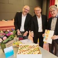Maurice Boonstra (directeur OBB), Jules van Brecht (directeur-bestuurder Talent Primair), en onderwijswethouder Ben Lüken.