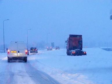 Overlast voor verkeer verwacht door sneeuwval