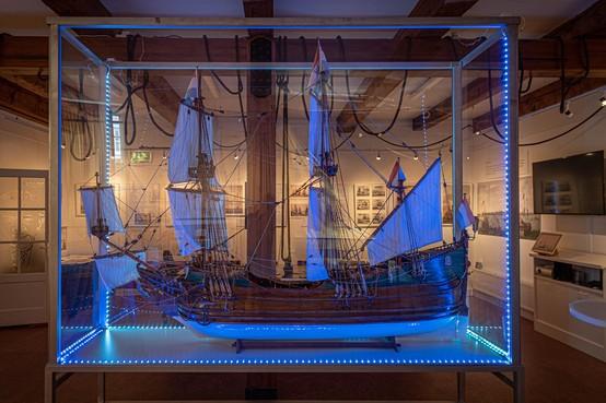 Het fluitschip staat centraal tijdens de expositie van Oud Hoorn
