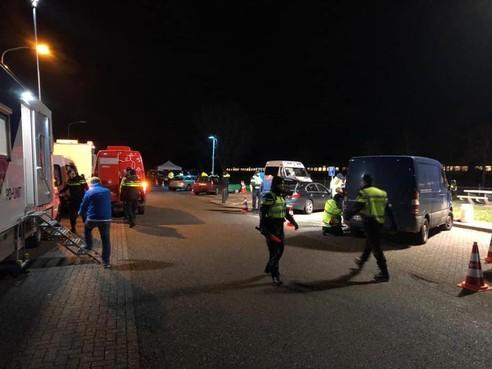 Vier aanhoudingen bij verkeerscontrole langs A7 in Berkhout [update]