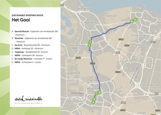 Duurzame shoppingroute door Het Gooi