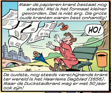 Zelfs inwoners Duckstad lezen Haarlems Dagblad