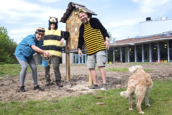 Nationale Zaaidag voor de bijen in De Hoep: 'Onderweg gooien we de zaadbommetjes'