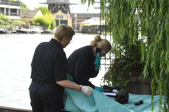 Schedel gevonden in water voor studentenvereniging Njord