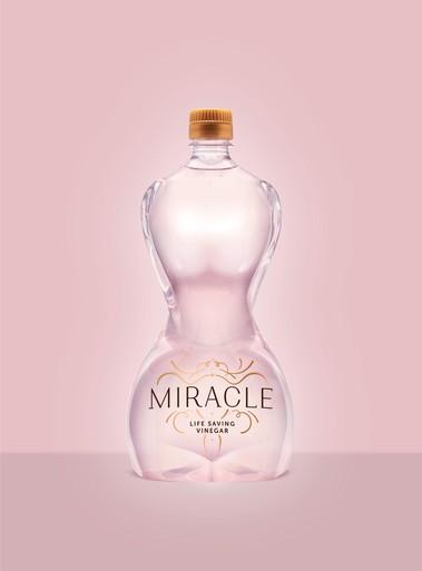 In de rij voor elegante azijnfles in strijd tegen baarmoederhalskanker