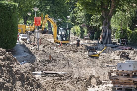 Werkzaamheden Brederoodseweg in Santpoort-Zuid liggen op schema