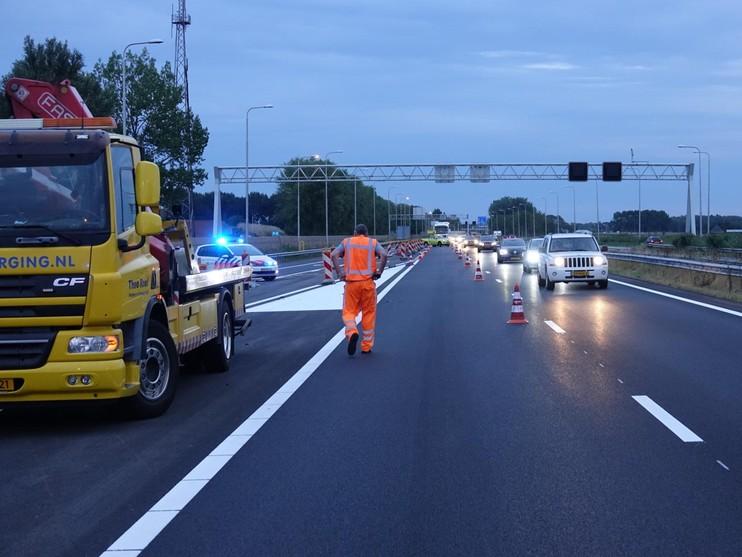 Duits gezin gewond bij zeer zware autocrash op A7 bij Hoorn