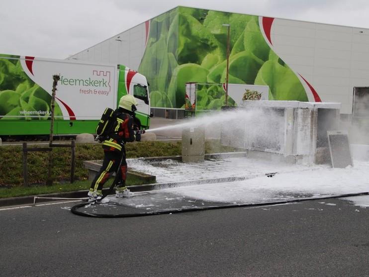 Brand in transformatorhuisje Rijnsburg