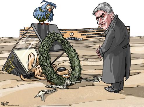 Cartoon: De laatste rustplaats van de Media Mile