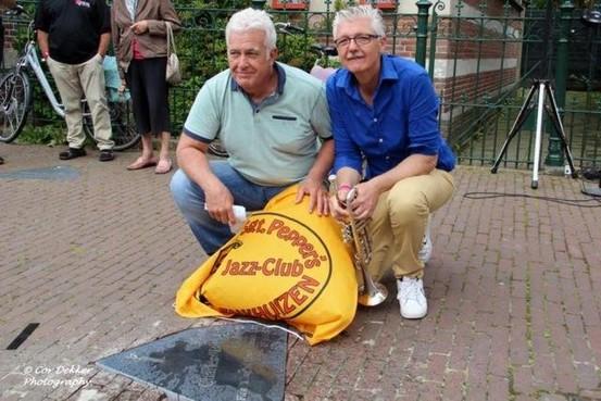 Cornettist Buddy Bolden in Enkhuizen vereeuwigd dankzij Jazz Walk of Fame