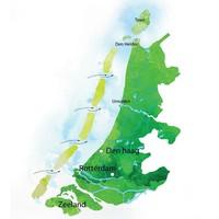 Het idee van Wouter van Dieren voor eilanden als een dijk voor de Hollandse kust, van Den Helder tot Walcheren.