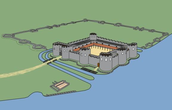 Brittenburg bij Katwijk was bovengemiddeld groot Romeins fort