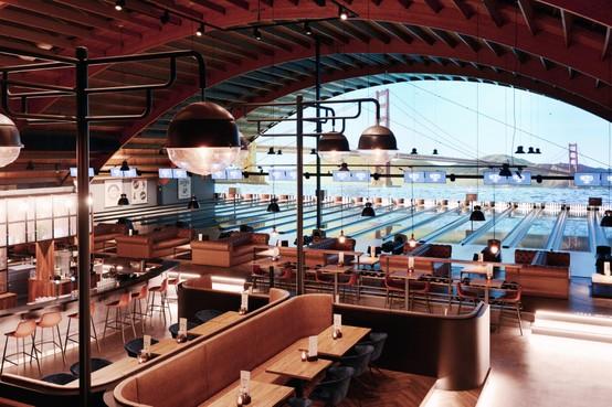 Amerikaanse prijs voor interieur Lucky's Bowling in Warmond