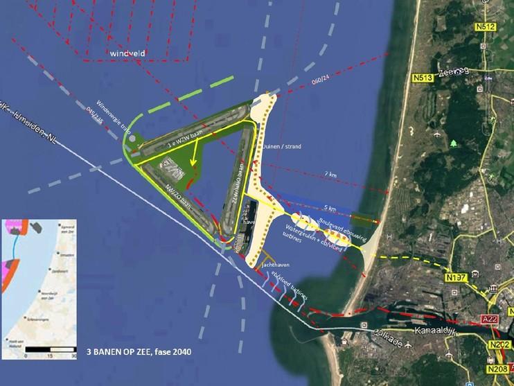 Bewonersgroepen willen startbanen in zee