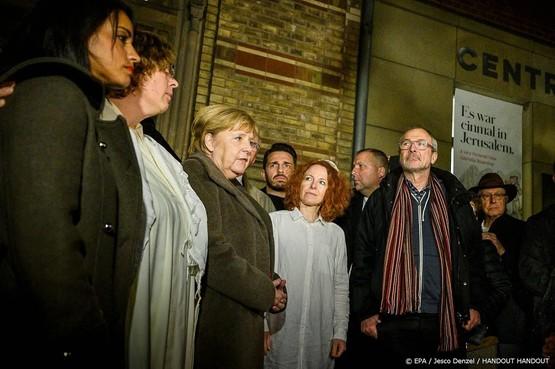 Merkel bezoekt synagoge Berlijn