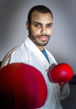 Karateka Tyron Lardy heeft nog één kans voor plaatsing Spelen