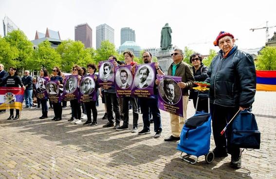 Betoging voor erkenning Armeense genocide