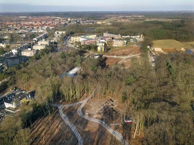 Bos bij Tergooi Hilversum veranderd in 'toendra'
