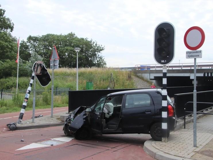 Ravage bij eenzijdig ongeval in Sassenheim